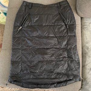 Black down skirt, size L. Knee length, like new.